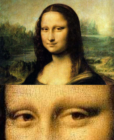 Image result for the mona lisa has no eyebrows